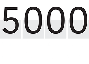 5000 Hours - graphic white